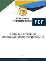 PLAN PARA EL RETORNO DEL PERSONAL A LAS LABORES INSTITUCIONALES OJ