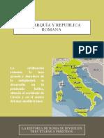 Monarquía y republica romana