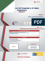 Funciones del lenguaje y signo lingüístico- Sesión 5