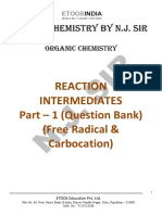 Reaction Intermediate (Free Radical and Carbocation) Question Bank.pdf
