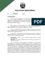 PROYECTO DE RESOLUCIÓN MINISTERIAL (personal Civil)