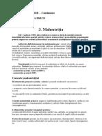 PEDIATRIE CURS 1 MALNUTRITIA