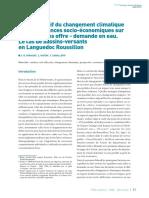 _p_Impact relatif du changement climatique et des tendances socio-économiques sur les équilibres offre - demande en eau. Le cas de bassins-versants en Languedoc Roussillon_p_