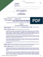 RA 9513 - Renewable Energy Act of 2008
