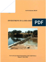 Investment in Land and Water