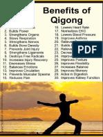 30 Benefits of QI GONG
