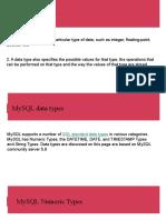 MySQL Data Tape