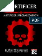 D&D5e - Mortificer (artificer specialization)