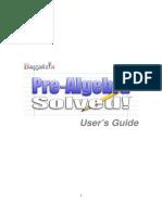 BagaTrix PRE-ALGEBRA-manual