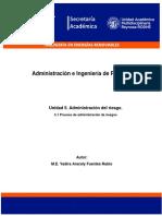 5.1 Proceso de administración de riesgos