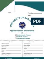 Admission Form 2010