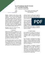Elimination of Transformer Inrush Currents