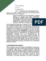 APLACION DE CESE DE PRISION