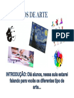 segunda aula-25-05-2020 TIPOS DE ARTE