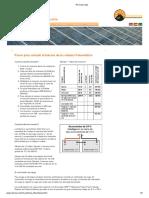 Sistema Fotovoltaico - Pasos para calcular el tamaño de la instalación