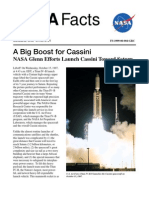 NASA Facts a Big Boost for Cassini