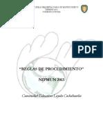Protocolo OFICIAL  NIPMUN 2013