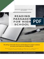 HighSchool Reading Booklet