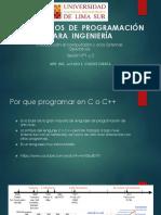 ALGORITMOS  DE  PROGRAMACIÓN  PARA  INGENIERÍA SESION 1 Y 2