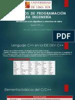 ALGORITMOS  DE  PROGRAMACIÓN  PARA  INGENIERÍA SESION 5 Y 6
