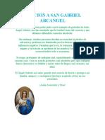 ORACION A SAN GABRIEL ARCANGEL