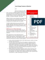 Filter Element Design Features