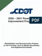 2021 Pavement Improvement Program