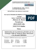 Optimisation de La Production Pétrolière Par La Technique UBD Au Champ de Hassi Messaoud