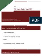 Tema 7. Muestreo, fiabilidad y validez