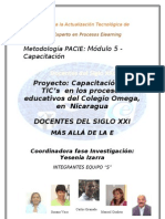 Capacitación en TIC's  en los procesos educativos  en  Nicaragua