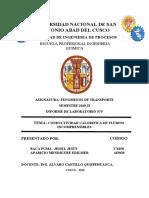 LABORATORIO N° 5 CONDUCTIVIDAD CALORIFICA EN LIQUIDOS INCOMPRESIBLES