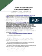 Ley de fondos de inversión y sus sociedades administradoras