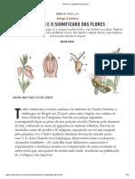 Darwin e o significado das flores