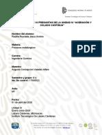 """CUESTIONARIO DE 10 PREGUNTAS DE LA UNIDAD IV """"ACERACIÓN Y COLADO CONTINUA"""""""