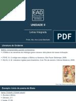 Slides de Aula - Unidade II Letras Integrada