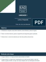 Slides de Aula - Unidade I Letras Integrada