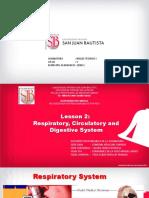 Respiratory-Circulatory-Digestive system
