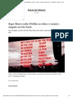 Roger Waters exibe #EleNão no telão e é vaiado e xingado em São Paulo - 10_10_2018 - Ilustrada - Folha
