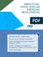 Impacto del COVID-19 en la industria metalúrgica