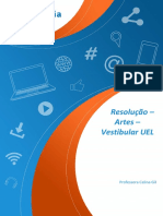 UEL 2019 - Resolução Artes