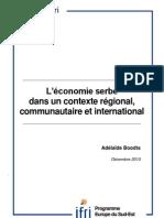 L'économie serbe dans un contexte régional, communautaire et international