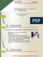 7.-CONTRATO A PLAZO FIJO Y LIMITES DE DURACION
