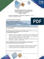 Guía de actividades y rúbrica de evaluación - Unidad 1 - Tarea 1 - Reconocer temáticas previas.pdf