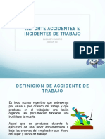 Reporte de accientes de incidentes