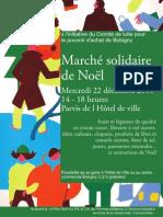 Affiche en couleur Marché solidaire de noël 2010