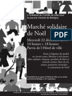 Affiche noir et blanc du Marché solidaire de noël 2010