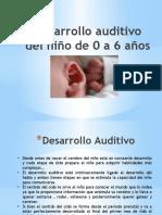 Desarrollo auditivo