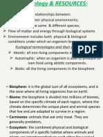 UNIT-8 ECOLOGY &RESOURCES