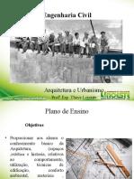 arquitetura e urbanismo - aula 1