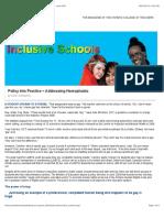 building inclusive schools - professionally speaking - june 2010